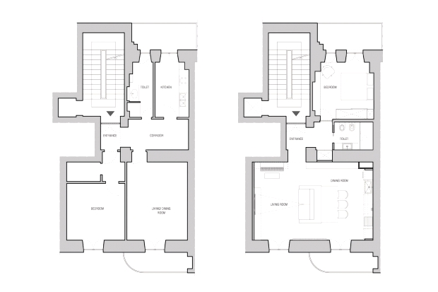 Floor Plan: Ante and Post Operam