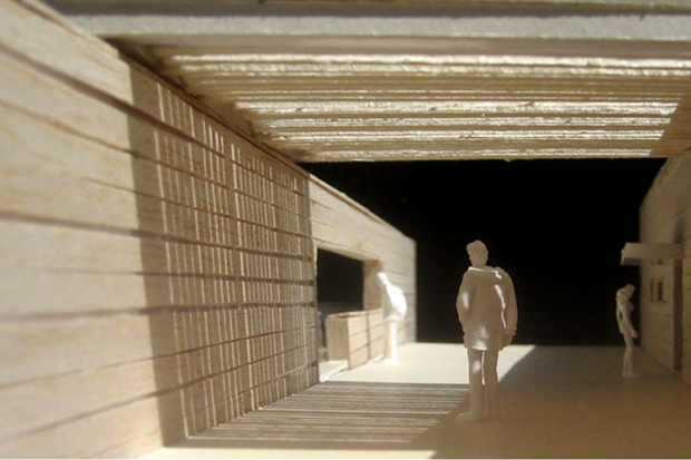 study model - new entrance to the complex (© Luca Peralta)