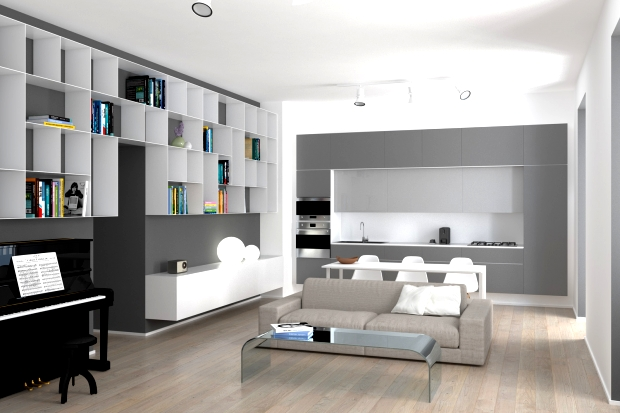Computer render for interior design study