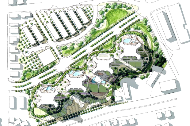 Rendered plan 1st proposal (© Luca Peralta & Philip Adiutori)