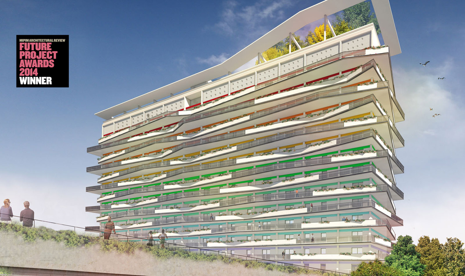 &quot;Torre Tintoretto&quot;, Residential Tower, Brescia, Italy<br />Winner International Design Competition